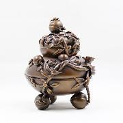onart BC-WCCP-STP021 九桃香炉 18cm×14cm×15cm 古铜色