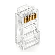创乘 CR003-50 工程级8P8C非屏蔽超五类网络水晶头 50U镀金/RJ45/50只 透明色