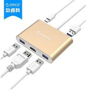 奧睿科 RCH3A-GD USB擴展產品線  金色  TYPE-C*1 Type-A*3 HDMI*1 Fresco FL5002 15cm