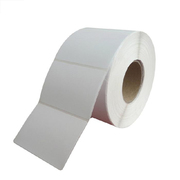国产 空白艾利法森80mm*60m 铜版纸(1000PCS,小圆角,中卷心管芯直径40mm)