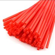 国产  一次性吸管 直径6MM 长19CM 红色 1000支/包