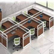 國產  單人卡位桌含柜 單人位1.2米*1.4米   辦公屏風單人卡位桌含柜(不含椅)