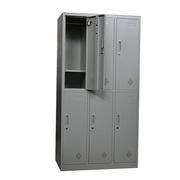国产 六门更衣 金属/木制储物柜 1800*900*420mm