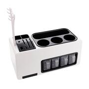 普魯斯 SUBPL127 廚房刀架調料組合套具 46CM 黑白色