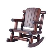 卓理 BB-01-A 朴货实木儿童摇摇椅  巧克力色