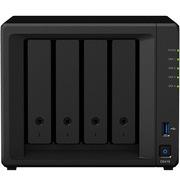 群暉 DS418 四盤位 NAS網絡存儲服務器 (無內置硬盤)  銀色  四盤位空槽NAS