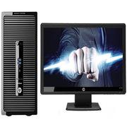"""惠普 HP ProDesk 480 G3 台式电脑套机 20""""I3-6100 4G 1TB WIN7 银灰色 一台 DVDRW 大客户优先服务三年保修"""