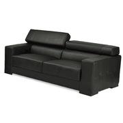 顺华 SH17-7833 三人沙发(半牛皮)  黑色 W2100xD1050xH750-950 黑色