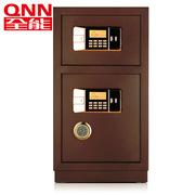 全能  电子密码保管箱JD-80VD 高800*宽430*深380mm 古铜色  双层双门独立存储,实心全钢锁杆+智能双警报系统
