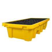 眾御 201253 兩桶托盤 1350*710*300 黑黃色