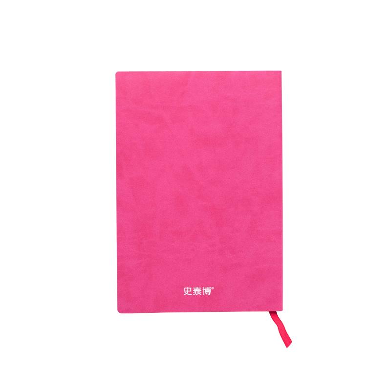 史泰博 PUNB001-5 软皮面记事本 A5 粉色 50本/箱