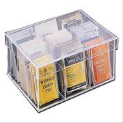 国产  透明亚克力茶包分隔收纳盒 160*190*60mm