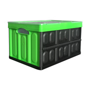 连和 LH-530-300 折叠式周转箱(带盖) 外径尺寸:530*360*300MM 森林绿