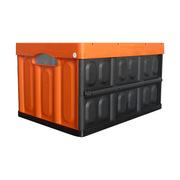 连和 LH-530-300 折叠式周转箱(不带盖) 外径尺寸:530*360*300MM 橙色