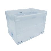 連和 LH-362627W 折疊式周轉箱(不帶蓋) 外徑尺寸:360*260*270MM 透明白色
