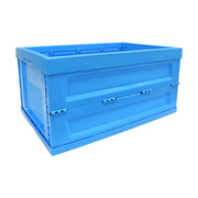 連和 LH-6040185W 折疊式周轉箱(不帶蓋) 外徑尺寸:600*400*185MM 藍色