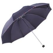 天堂 加大加固黑膠三折晴雨商務傘3311E升級款(顏色隨機) 64cm*10k