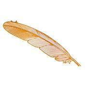 蟬之翼 CZY001 金屬鏤空創意金色細紋樹葉書簽