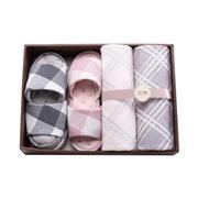 竹印象 zyx-030745 竹纖維毛巾拖鞋 四件套