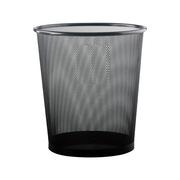 史泰博 M281B 圓形中號金屬網狀垃圾桶 25*27.5cm 黑色 12個/箱