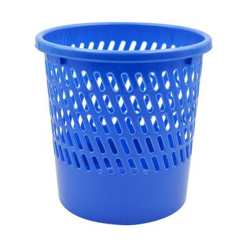 ope电竞娱乐  塑料圆形垃圾桶/废纸篓 25.5*25.5*26CM 蓝色 1/40