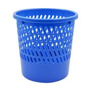 史泰博  塑料圓形垃圾桶/廢紙簍 25.5*25.5*26CM 藍色 1/40