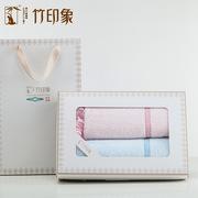 竹印象  皇冠浴花三件套(皇冠大软盒) 毛巾*2 浴花*1 随机色
