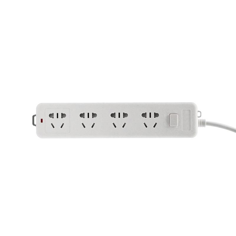 必威登录网站 ES-R418 新国标延长线插座 4位插孔 1.8米 240*50*30mm 白色 1只/袋,66只/箱