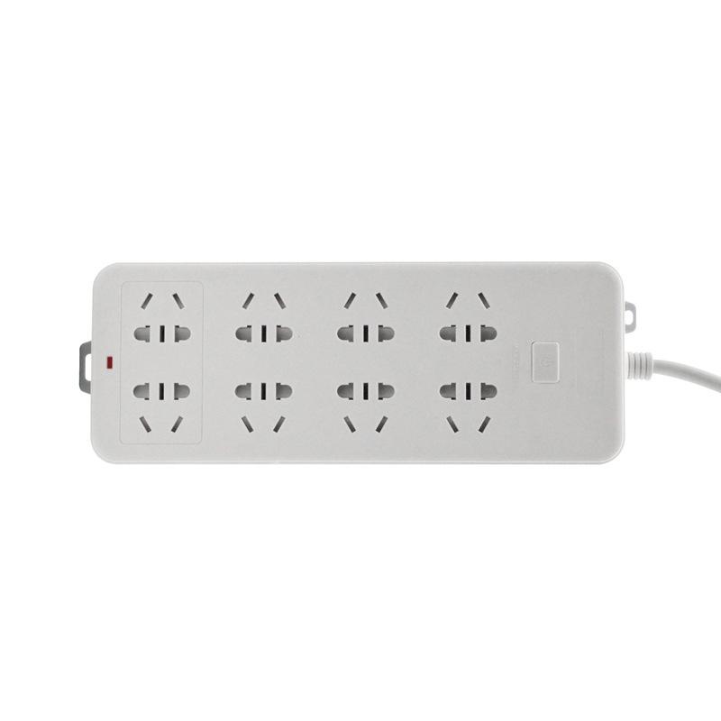 必威登录网站 ES-R830 新国标延长线插座 8位插孔 3.0米 240*90*30mm 白色 1只/袋,44只/箱