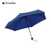 三極 TP7009 純色五折傘迷你傘口袋雨傘 90*52cm 深藍色