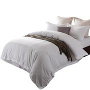 国产  床上四件套 被套220*245床单260*280枕套60*90 白色 一套