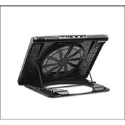 安尚 NBS-19 筆記本散熱支架 帶LED燈 黑色