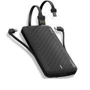 爱沃可 UBT8000X 魔蝎移动电源 8000毫安 黑色  自带苹果/Type-c/安卓/USB线
