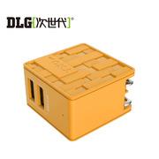 次世代 NC-A12FY 迷宫2口USB充电器 黄色