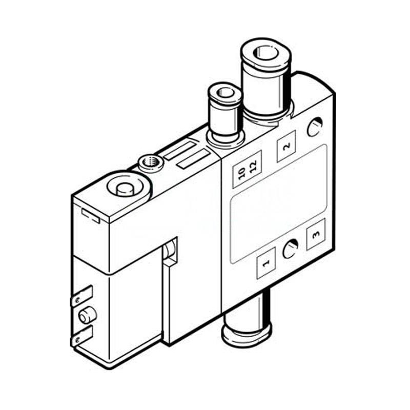 費斯托 196855 兩位三通單電控電磁閥 CPE10-M1BH-3OLS-QS-4