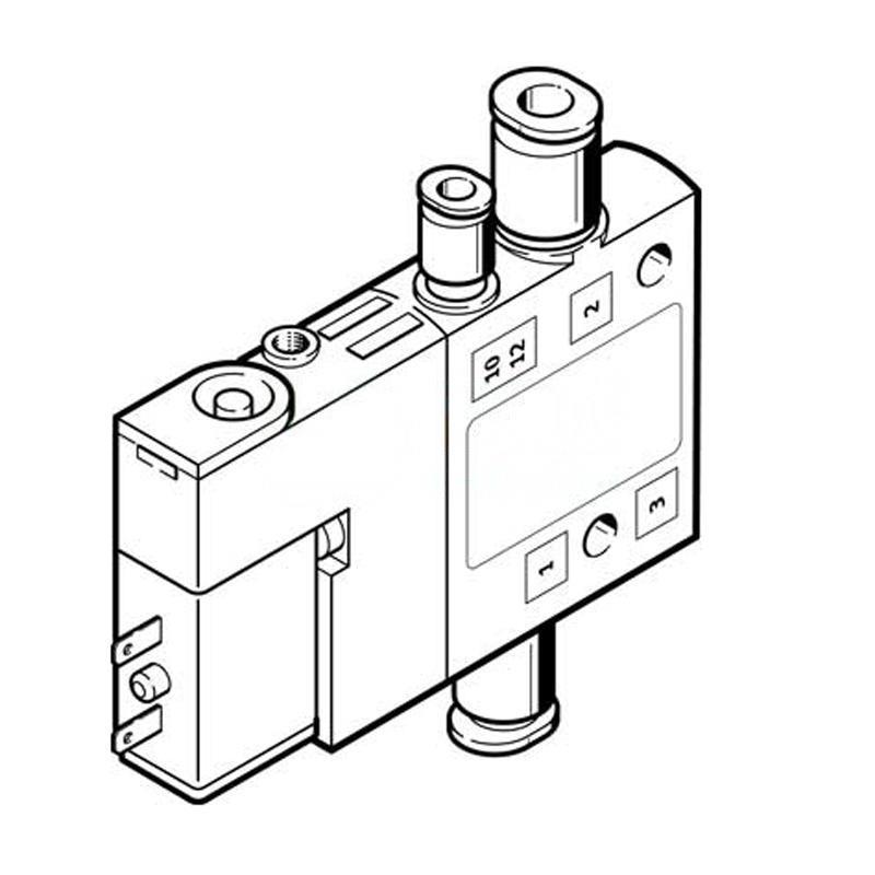 費斯托 196856 兩位三通單電控電磁閥 CPE10-M1BH-3OLS-QS-6