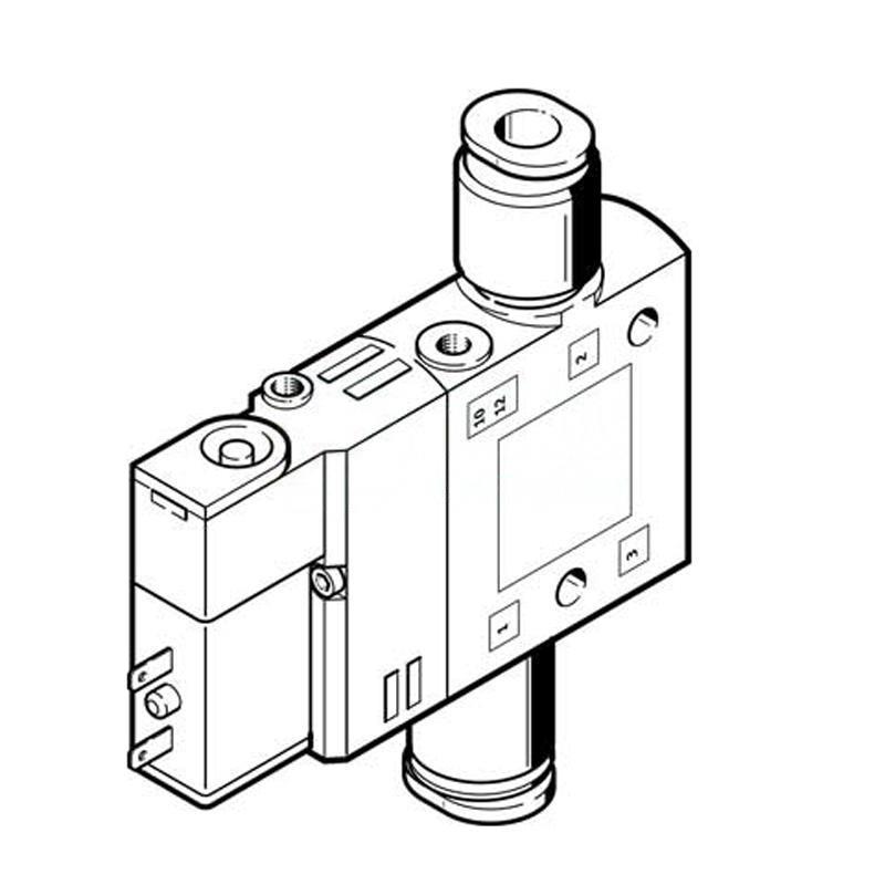 費斯托 196887 兩位三通單電控電磁閥 CPE14-M1BH-3GL-QS-6