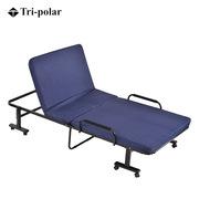 三極 TP1004 戶外兩折木板折疊椅躺椅辦公室午休床單人床 190*75*35cm 深藍色