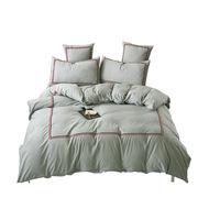 金絲莉 YLSG 瑞麗色織四件套 被套*1床單*1枕套*2 灰色