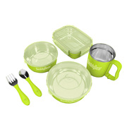 杯具熊 CJT1-004 家庭餐具套装 27CM*36CM*8.8CM 绿色 6件套