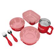 杯具熊 CJT1-004 家庭餐具套装 27CM*36CM*8.8CM 红色 6件套