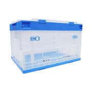 連和 LH-654436CDK 折疊式周轉箱 650*440*360 藍白色