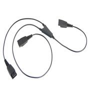 麥爾迪 MRD-QD005M 話務耳機專用Y型培訓連接線  黑色
