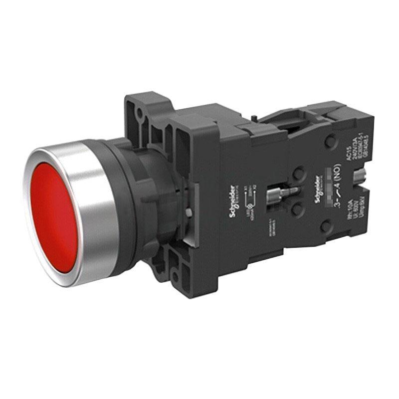 施耐德電氣 XA2EW34M2 平頭帶燈按鈕 220VAC 紅色 1NC