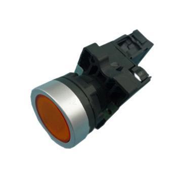 施耐德電氣 XA2EW35M1 平頭帶燈按鈕 220VAC 黃色 1NO