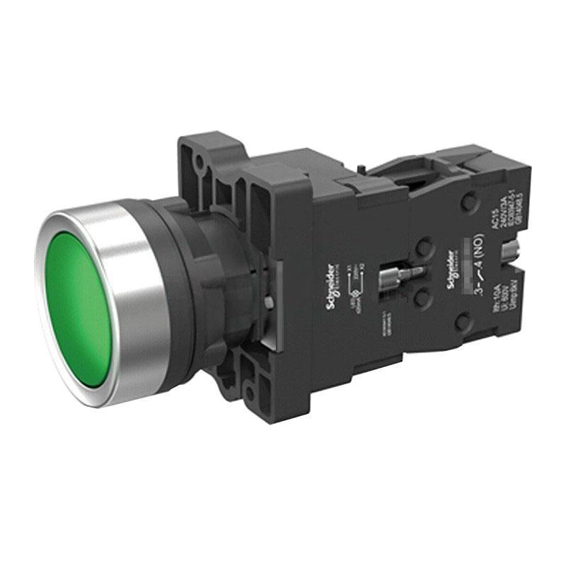 施耐德電氣 XA2EW33Q1 平頭帶燈按鈕 380VAC 綠色 1NO