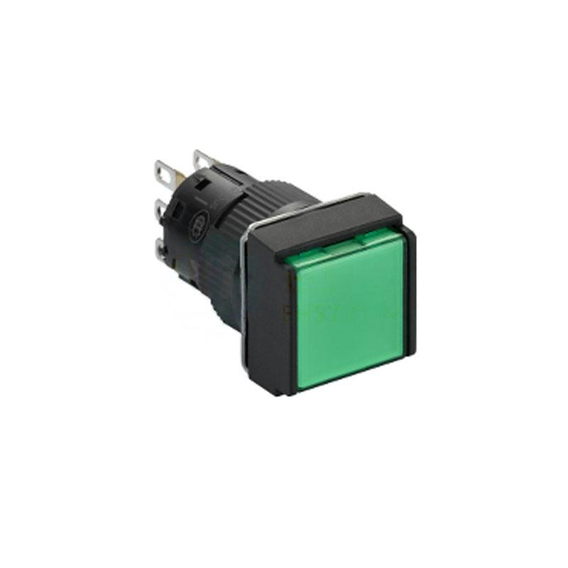 施耐德電氣 XB6ECW3B1F 自復位帶燈按鈕 方形 綠色 24V 1NO/NC