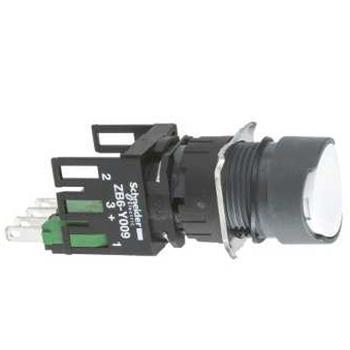 施耐德電氣 XB6AA15B 圓形白色16mm按鈕 NO/NC