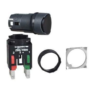 施耐德電氣 XB6AA25B 圓形黑色 NO/NC 16mm按鈕