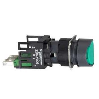 施耐德電氣 XB6AA31B 圓形綠色 1NO 16mm按鈕